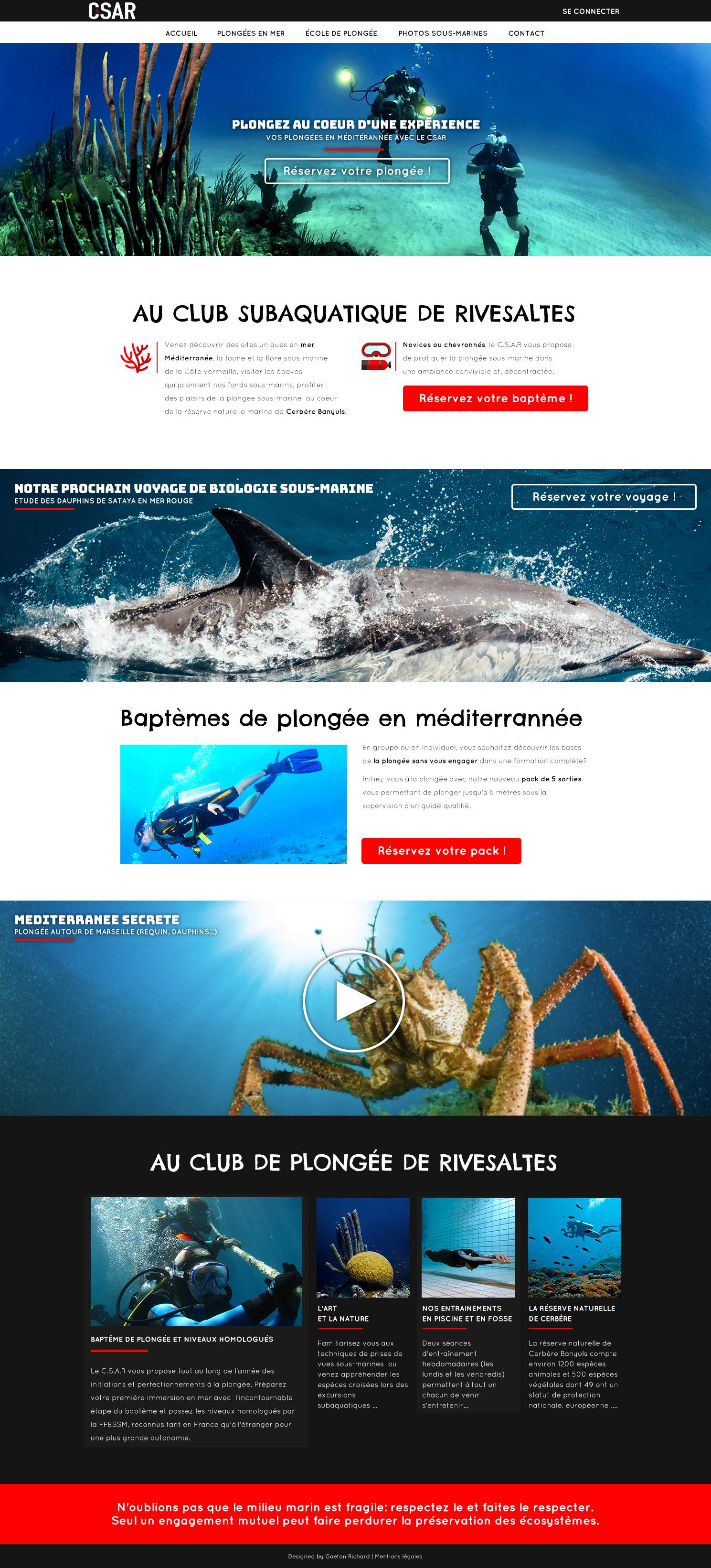 Aperçu du site sur un macbook