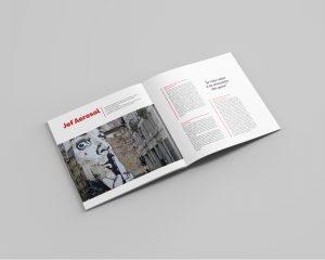 Gaetan Richard graphiste webdesigner 2018 projet livre, mise en page, street art